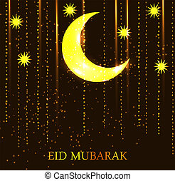 Moon Background for Muslim Community Festival Vector...