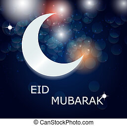 Moon Background for Muslim Community Festival Vector ...