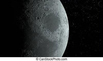 Moon Background Realistic moon The Moon is an astronomical...
