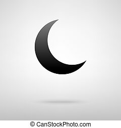 Moon black icon