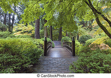 Moon Bridge at Japanese Garden