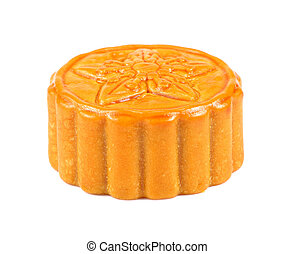 moon cake on white background