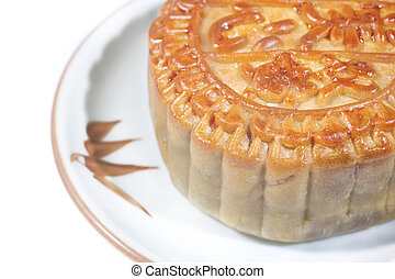 Moon cakes. Traditional food for the Chinese mid Autumn...