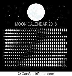Moon calendar 2018