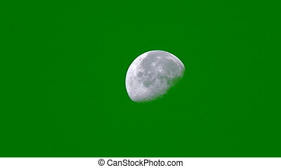 Moon Chroma Key FX 2 - Moon with Chroma Key background...