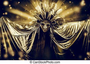 moon costume - Metaphorical idea of the moon. Folklore....