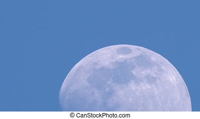 Moon crosses the blue sky continuously - Loopable moon ...