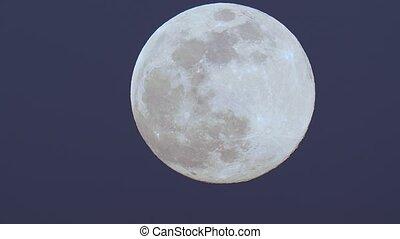 Moon detailed closeup - Full Moon handheld camera motion and...