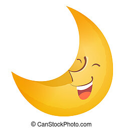 Moon face - Pretty big moon with face smilling in the sky