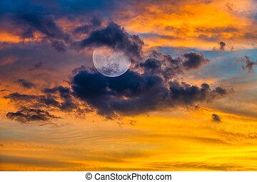 Moon Fantasy Clouds