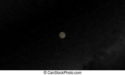 Moon Flyby. CG. hd