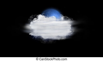 Moon Fog, Weather Forecast Icon with Alpha Channel - Weather...