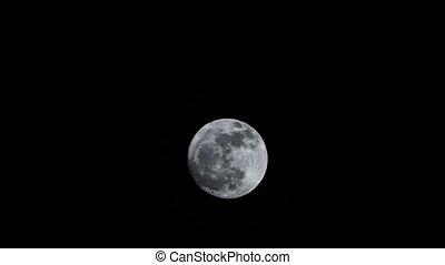 Moon (Full Moon) with moonlight on night sky - Moon (Full...