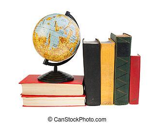 Moon Globe and books