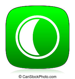 moon green icon for web and mobile app