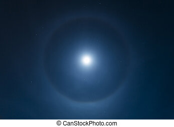 Moon Halo - Glowing light around the moon