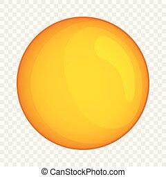 Moon icon, cartoon style