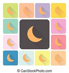 Moon Icon color set vector illustration