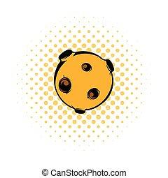 Moon icon, comics style