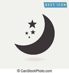 Moon Icon. vector icon eps10.