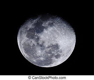 moon in dark sky background