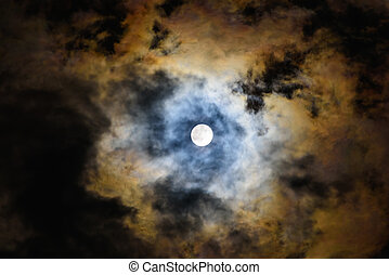 moon in the cloud