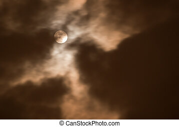 Moon in the cloudy night