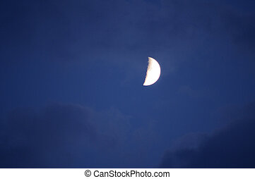 Moon in the evening sky