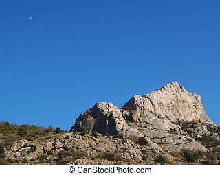 Moon in the mountains