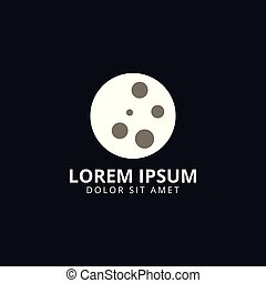 Moon logo design template
