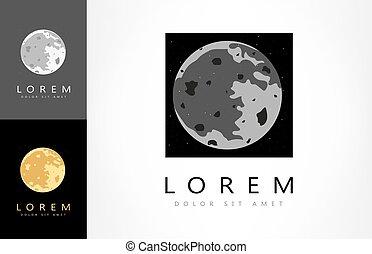 moon logo vector
