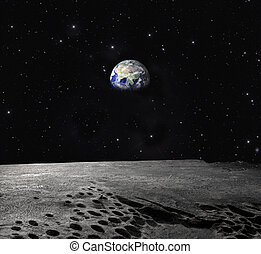 moon  - night landscape with moon