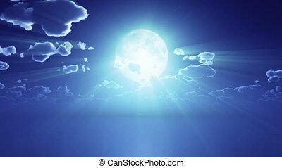 moon night time lapse 4k