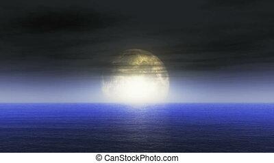 moon ocean