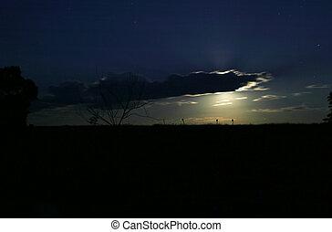 Moon on Horizon