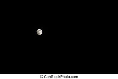 moon on the dark night