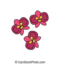 Moon orchid icon, cartoon style