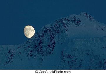 Moon over Belukha