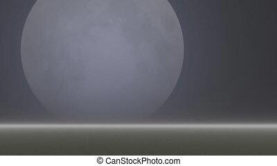 Moon - Panorama of moon across the sky