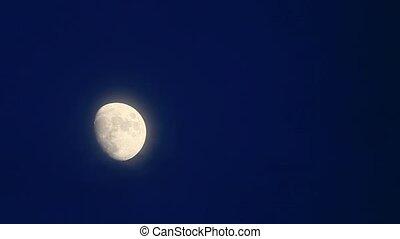 Moon passing