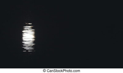 Reflection of the moonlight on the water