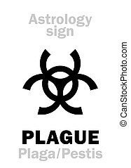 moon), peste, triple, (black, astrology: