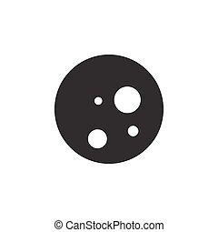 Moon phase. Full Moon. Icon. Weather glyph vector illustration