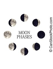 Moon phases-01.eps - Moon phases night space astronomy and...