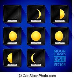 Moon Phases Icon Set