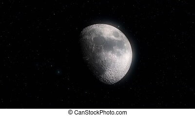 Moon Phases. Ten steps from full moon to new moon. High ...
