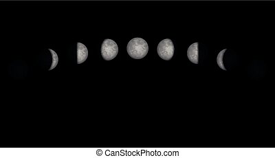 Moon Phases Time Lapse - Time lapse of the moon phases -...