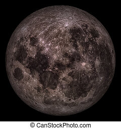 moon., pieno, closeup