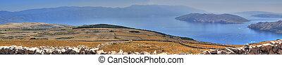 Moon plateau stone desert in Croatia