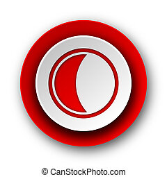 moon red modern web icon on white background